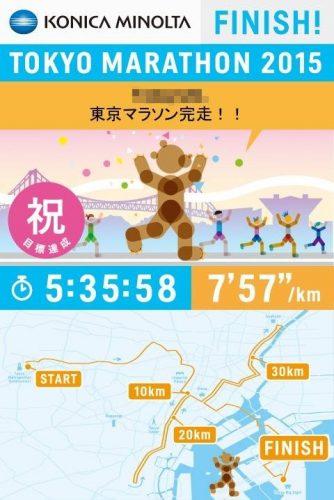東京マラソン2015大城あしかリザルト