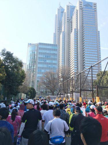 東京マラソンスタート前