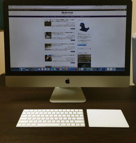 iMacにデータ移行完了